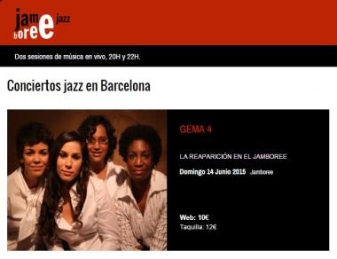 14 de junio - Gema 4 en Jamboree de Barcelona, Cataluña