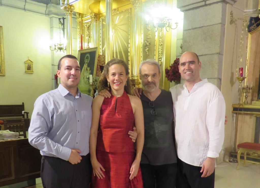 El compositor Eduardo Morales-Caso y los interpretes