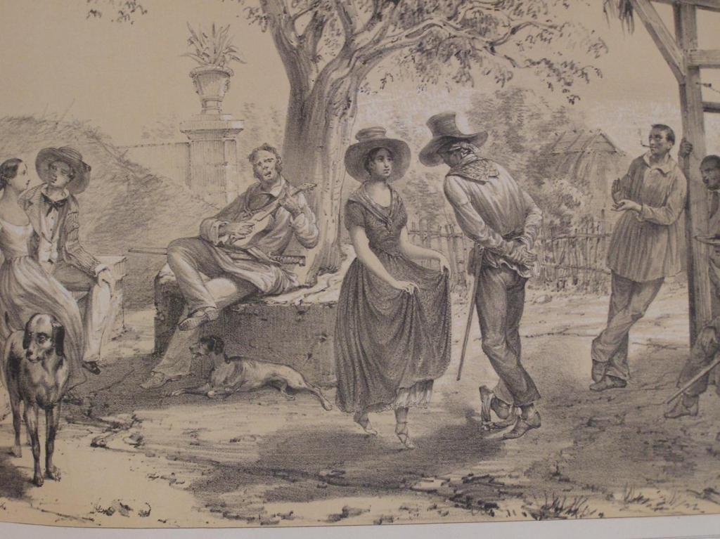 Pedro Federico Mialhe, La Isla de Cuba, El Zapateado (muestra de la herencia hispánica).