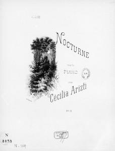 Nocturno de Cecilia Arizti. Obra para piano